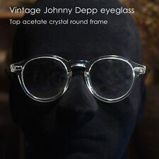 Round retro crystal eyeglasses Johnny Depp glasses mens clear optical RX glasses