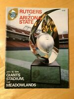 RUTGERS FOOTBALL PLAYER OWNED 1978 THE GARDEN STATE BOWL PROGRAM ARIZONA STATE