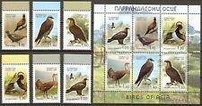 Tajikistan 2007 MiNr. 470-5, bl. 48 Birds Dusks Eagles 6 v +1 ssh MNH** 16,00 €