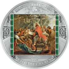 Cook Islands 2017 20$ Masterpieces of Art Easter Edition Christ Jerusalem Silver