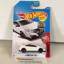 '16 Honda Civic Type R #327 * White * 2017 Hot Wheels FACTORY SET * Y