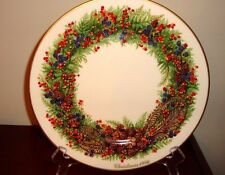 Lenox China 1986 Colonial Christmas Wreath New Hamshir 6Th Colony Plate
