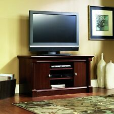 Wood Modern Flat Screen TV Stand Computer Entertainment Center Table w/ Cabinet