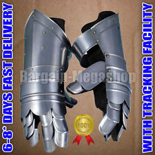 Antique Replica Medieval Knight Metal Gauntlets Gift for Him Larp Party Costumes