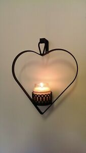 Heart Wall Hanger For Mini Yankee Candle Jars or Similar Size Jar / Sconce