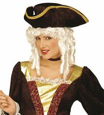 Parrucca Milady Bianco Perla Dama Travestimento Donna Carnevale Teatro nuovo