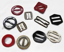 11 Vintage Buckles Lot - Belts or Craft Projects - Metal Plastic