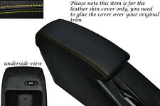 YELLOW  STITCH LEATHER ARMREST SKIN COVER FITS TOYOTA COROLLA LEVIN GT-Z AE101
