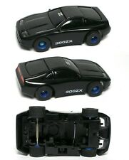1991 TYCO Nissan 300ZX Black/Blk Z HO Slot Car Body & Free Rolling Chassis 6310
