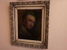 British School 19th Century Oil On Canvas Portrait Of Man