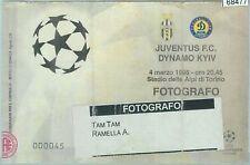 68477 - BIGLIETTO PARTITA CALCIO Champions - 1998: JUVENTUS  / DYNAMO KYIV