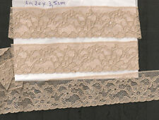 COLLECTION FINE DENTELLE ANCIENNE 1m20 x 3,5 cm FIL DE LIN TULLE FLEURI DECORS