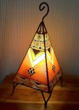 Moroccan Henna Lamp- pyramid  shape 38 CM orange