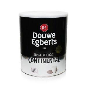 Douwe Egberts Continental Coffee Tins 1 x 750g