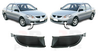 FOR MITSUBISHI LANCER 2004-2006 FRONT BUMPER FOGLIGHT COVER BLACK PAIR SET