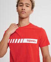 Superdry Mens Core Logo Sport Stripe T-Shirt