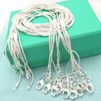 Wholesale Fashion jewelry 2mm snake Chain sterling silver Necklace 16-24 inch CC