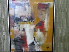 "Ken Law Original Painting- Oil Mixed Media on Canvas 20"" x 24"" ""Window Shopping"""