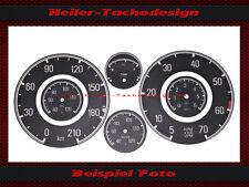Satz Tacho Aufkleber Mercedes Benz W121 B II 190SL Cluster Dial Sticker Tacho
