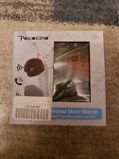Pococina Wireless Hands-Free Bluetooth Beanie Hat Sport Speaker Knit Ca - Gray