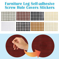 Muebles funda auto-adhesiva para agujeros pegatinas tornillo 54-in-1 blanco mate