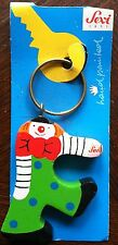"SEVI Wooden Clown Letter ""F"" Keychain"