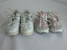 Lot of 2 Kids Girls Toddler Athletic Shoes Size 5 Everyday R4