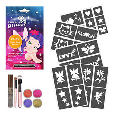 BOXED FAIRY GIRLS GLITTER TATTOO BODY ART KIT sleepovers, Parties & Gifts