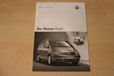 68425) VW Sharan Goal - Preise & Extras - Prospekt 04/2005
