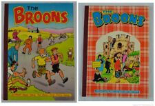 The Broons 1985 + 1987 Paperback Book Annual DC Thomson Comic Sunday Post