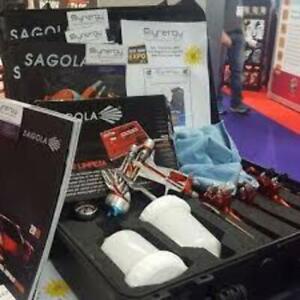Sagola Spray Gun Demonstration Case Holds 3 Sprayguns