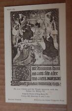 Postcard British Museum Collection Henry VI Psalter priests Christ And Virgin