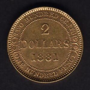 Canada - Newfoundland. 1881 gold 2 Dollars.. gEF/aEF - Part Lustre