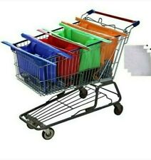 4 Colors 4 Sizes Shopping Cart - Trolley Reusable Bags Grocery Supermarket Bags
