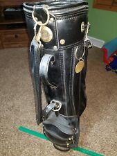 VINTAGE Mizuno Leather Trimmed Staff Golf Bag w/ rain Cover
