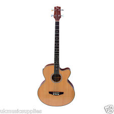 Coban Electro 4EQ Luxury Natural Gloss  Acoustic Bass Guitar Luxury 20mm Gig Bag