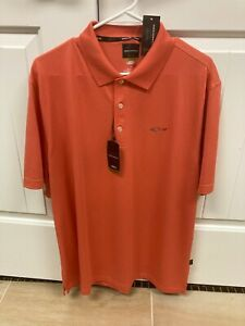 Greg Norman Golf Shirt Size Large NWT Color Coral