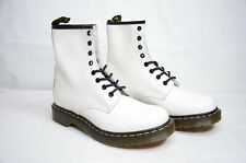 Dr Martens Women's 1460 Smooth White Combat Boots Size: 9 Brand New