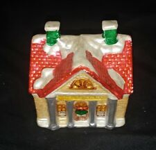 "Red Roof Christmas House ornament size: 4""x3""x4""inches"