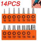 14PCS+Torx+Hex+Bit+Set+Security+Tamper+Proof+Torq+Star+Resistant+S2+Steel+T5-T40