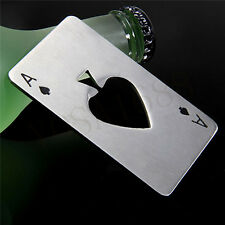 1pc Poker Playing Card Ace of Spades Bar Tool Soda Beer Bottle Cap Opener