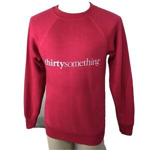 Vintage 80s Thirtysomething TV Show NOS Pink Sweatshirt Unisex Adult Medium 90s