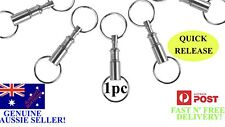 1x Detachable Quick Release Keyring Keychain Key Ring Chain Pull Apart Split EDC