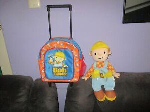 Bob the Builder Backpack/Rollerbag & large soft Bedbuddy/Pencilcase bulk lot