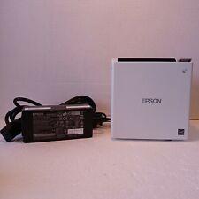 Epson Tm M30 M335b White Thermal Pos Receipt Printer Usb Ethernet Bluetooth