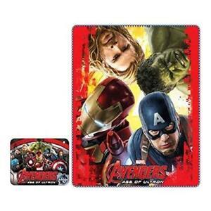 Avengers Age of Ultron Fleece Blanket - Iron Man, Thor, Captain America & Hulk