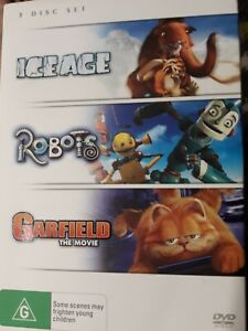 Ice Age / Robots / Garfield The Movie DVD R4 (PAL, 3 Disc Set) #S