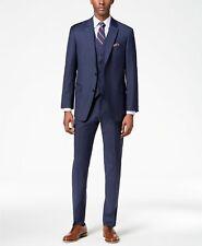 $765 Tommy Hilfiger 40r Mens Blue 2 Piece Fit Blazer Wool Suit Coat Jacket Pants