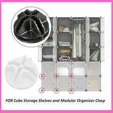Shelf Storage Cabinet Buckle Connectors Cube Y Modular Closet Organizer Wardrobe