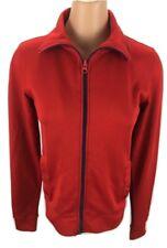 Tommy Hilfiger Jeans T-Shirt Top Long Sleeve Red Women's Full Zip Jacket Sz: SM